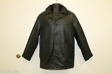 New Tanners Avenue Men's Leather Jacket with Removable Lining Basic Coat, Black