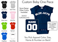 Blue Jays Baby One Piece - Custom Name and Number, Creeper, Onesie
