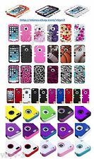 High Impact HYBRID Defender Rugged Silicone Hard Case Cover For Apple iPhone 5 S