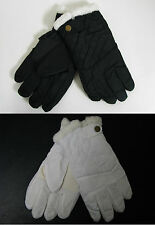 New Women's Ski Gloves Snow Winter Insulated Waterproof Fur Button Warm One Size