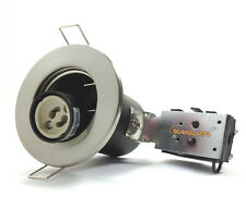 10 x FIRE RATED DOWNLIGHTS RECESSED CEILING SPOTLIGHTS DOWNLIGHTERS CHROME WHITE
