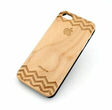 PICK ONE REAL WOOD PLASTIC SLIM CASE COVER FOR IPHONE 5 5S LASER CUT USA SELLER