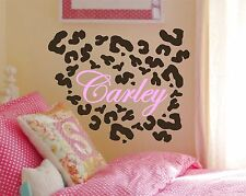 35 Leopard Spots & Name -  Animal Wildlife Cheetah Print Wall Decal Sticker
