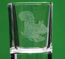 Squirrel Countryside Nature Crystal Shot Tot Glass Cup Ideal Gift British Animal