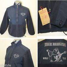 TRUE RELIGION Womens Basic Zip Top Designed BLUE Jackets Coats Size Variations