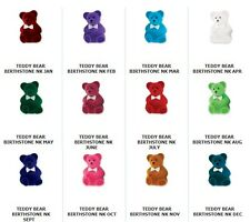 Adorable Teddy Bear Birthstone Pendant Necklace New in Box Great Gift FREE SHIP