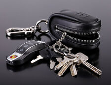Men and Women's Unisex Genuine Leather Car Key Bag Keychain Case Holder teemzone