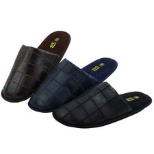 Men's House Slippers Comfort Cushioned Fleece Lined Loafer Warm Shoes Sizes:7-13