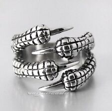 Dragon Claw 316L Stainless Steel Mens Biker Rocker Punk Ring X025A