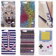 Leopard Print Triangle Hard Back Shield PC Case Cover for Sony Xperia Go ST27i