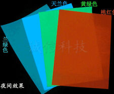 2pcs21*29.5cm Premium Luminous GLOW IN THE DARK Tape Sheet Sticker luminous film