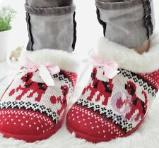 Women's Warm Winter Comfortable Bohemian Booties House Slippers Shoe Sz 5-10