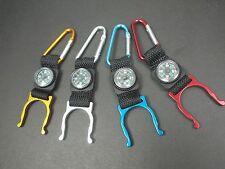 2 in 1 Outdoor Tactical Carabiner Water Bottle Buckle Holder Clip with Compass