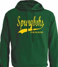 South Africa Springboks It's in the Blood Retro Style Rugby Jersey Hoodie