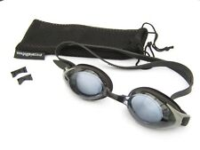 Prescription goggles for long sighted swimmers. Choose power for each eye.