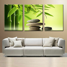 ZEN STONE&BAMBOO easy 2 hang mounted fiberboard Vinyl canvas/surpassed stretched
