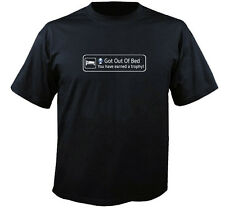 Playstation 4 Style Got Out Of Bed Trophy Unlocked PS3 PS4 Call Of Duty T Shirt