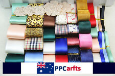 "3/8""~1.5""Mixed colors satin and grosgrain ribbons and lace Hairbow DIY"