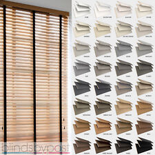 Wooden Venetian Blinds with Tapes - 25, 35 & 50mm Made To Measure Wood Blinds