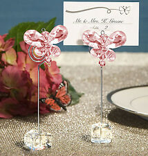 Pink Butterfly Wedding/Party Table Place Card/Number/Name Holders Clips