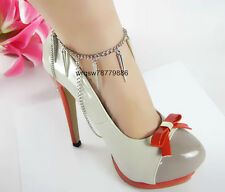 L28 Fashion Rivet Anklet Chain Jewelry Shoe Necklace Body Chains Jewellry