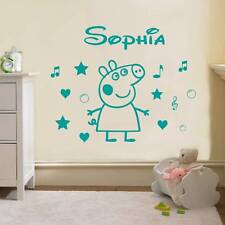 PEPPA PIG PERSONALIZED Decal WALL STICKER Art Home Decor Kids Bedroom SST014