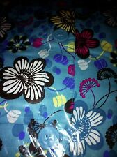 Lab coat Lab Jacket Warmup Different types of Flowers on a Blue BG By Scrubs 4XL