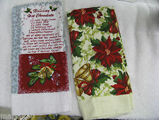 KITCHEN / HAND TOWELS  FOR THE HOLIDAYS COTTON TERRY