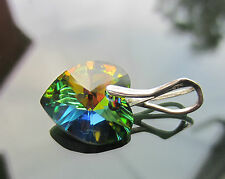 Crystal Heart Octagon 925 silver differents Pendant made with SWAROVSKI ELEMENTS