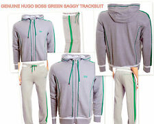 New 100% Genuine Hugo Boss Saggy and Hajo Full Hooded Jogging Tracksuit in Grey