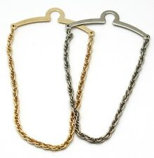 NEW Mens 5mm Tie Chain/Tack/Clip Gold/Silver Double Woven Rope Made in USA-Boxed