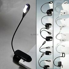For Amazon Kindle Flexible Arm Clip-On Bright Laptop Lamp LED Clip Reading Light