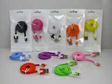 MICRO USB DATA SYNC CHARGER Flat NOODLE CABLE LEAD 4 SAMSUNG NOKIA SONY HTC