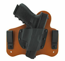 Leather Kydex Hybrid IWB Concealed Gun Holster for Springfield XDm, 3.8 9mm / 40