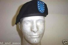 NEW US MILITARY ISSUE BLACK WOOL BERET SIZE DSCP