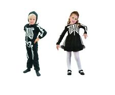 SKELETON TODDLER GIRL/BOY HALLOWEEN FANCY DRESS COSTUME CHILD 2-4 YEARS OLD