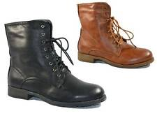 WOMENS LADIES ANKLE BOOTS MILITARY ARMY LACE UP WINTER COMBAT BOOTS SIZE 3 - 8