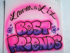 """Airbrushed """"BEST FRIENDS"""" T-shirt"""