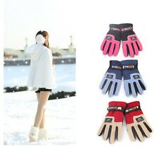 Women Girls Warm Winter Gloves Fleece Outdoor Ski Snowboard Snow Three Choices