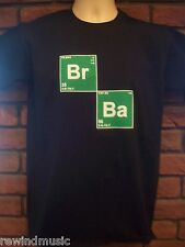 Mens BROMINE (BREAKING) BARIUM (BAD) T Shirt   Periodic Table Elements in BLACK