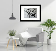 Melting Time Surreal Steampunk Crow And Tree Signed Matted Picture Print A534