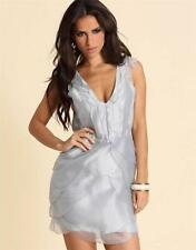 ASOS GREY OR PINK ORGANZA SCALLOP DRESS SIZE 6 - 18 NEW £60 RRP