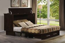 Creden-ZZZ Convertible Cabinet Bed with Memory Foam Mattress Wall Bed
