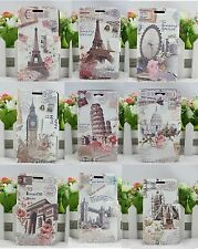 Retro Historical Building wallet case cover for Samsung Galaxy Note i9220 N7000