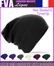 BONNET HIVER FEMME HOMME Slouch Beanie Black Grey Hat MEN WOMEN SLOUCHED WARM
