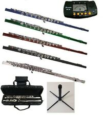 New C Flute,Case+Free Stand,Metro Tuner~Student Beginner Intermediate Orchestra