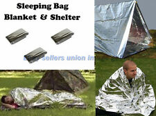 Outdoor SILVER FOIL BLANKETS SLEEPING BAGS SHELTERS EMERGENCY SURVIVAL FIRST AID