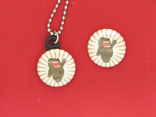 "Domo-kun star burst  Mr. Usaji Friend Cartoon New 1"" Button Charm 30"" Necklace"