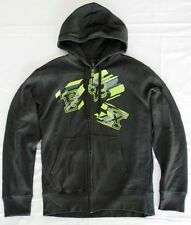 Mens Medium Black Fox 'Deactivate' Zip Fleece Hoodie