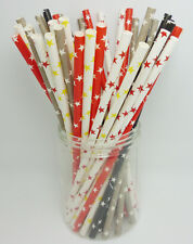 25 PCS Colorful Star Paper Straws Drinking Straws For Wedding Party Color10-14